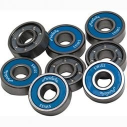 Andale Swiss Single Bearing Skateboard Accessories, Blue
