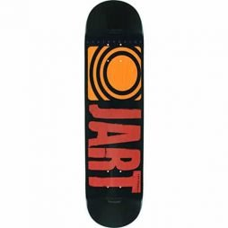 Jart Skateboards Classic Black / Red / Orange Skateboard Deck – 7.75″ x 31.7″ with Jessup Die-Cut Grip Tape – Bundle of 2 items
