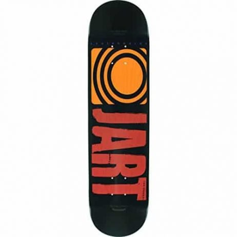 Jart Skateboards Classic Black / Red / Orange Skateboard Deck – 7.75″ x 31.7″