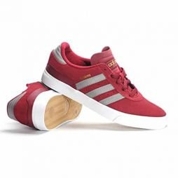 Adidas Mens Busenitz Vulc Skateboarding Sneakers Burgundy/grey/white