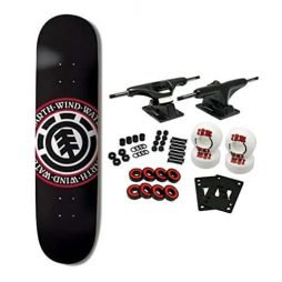 ELEMENT SKATEBOARDS Complete Skateboard TEAM SEAL BLACK 8.5