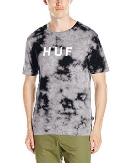 HUF Men's Bleach Wash Original Logo T-Shirt