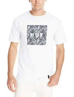 HUF Men's Palm Leaf Box Logo T-Shirt