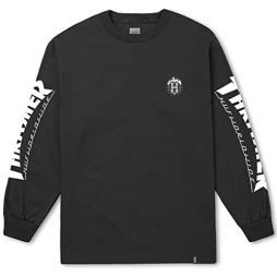 HUF THRASHER TDS L/S Shirt – Black