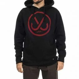 JSLV Hooks Pullover Hoodie Sweatshirt Black/Red Men's Large