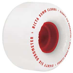Ricta Clouds Skateboard Wheels, Red, 55mm, 86a
