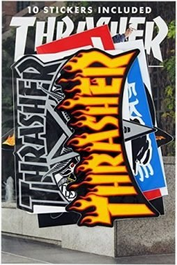 Thrasher 10 Pack of Assorted Stickers