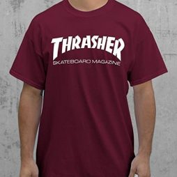 Thrasher Magazine Skate Mag Maroon / White T-Shirt – Small