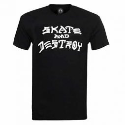 Thrasher Skate and Destroy Short Sleeve T-Shirt-Black
