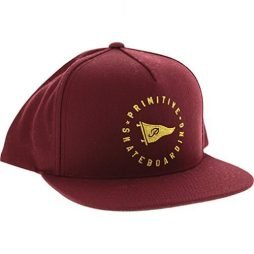 Primitive Circle Pennant Skate HAT – Adjustable Burgundy