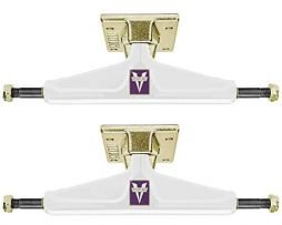 "Venture Icon White/Gold Lo 5.25"" Skateboard Trucks"