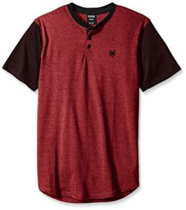 Zoo York Men's Short Sleeve Quill Henley