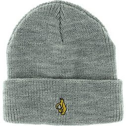Krooked Skateboards Shmolo Emblem Heather Grey Beanie