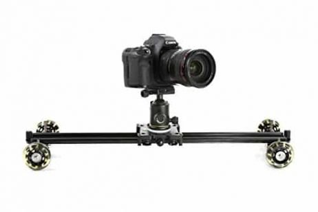 Movo SGTD-60 23-inch Linear Track Slider / Table Dolly Combo Video Rig