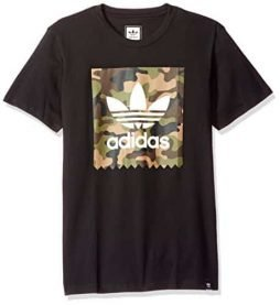 adidas Originals Men's Skateboarding Camo Blackbird Tee