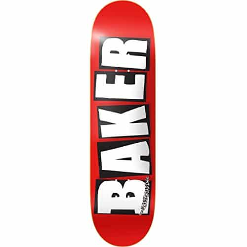 Baker Skateboards Brand Logo Red/White Deck 8.25""