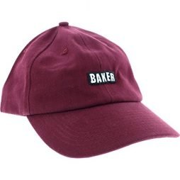 Baker Skateboards Chico Maroon Snapback Hat - Adjustable
