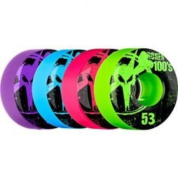Bones Wheels 100s Original Assorted Colors Skateboard Wheels - 53mm 100a (Set of 4)