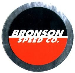 Bronson Speed Co. Skateboard Bearings Sticker skate snow surf board bmx guitar