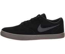Nike Men's SB Check Solarsoft Skate Shoe Black/White