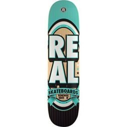"Real Skateboards Renewal Stack Teal Skateboard Deck - 7.75"" x 31.25"""