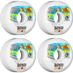 Bones Wheels Chris Joslin STF Shaggy White Skateboard Wheels - 51mm 83b (Set of 4)