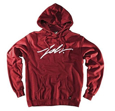 JSLV Signature Pullover Hoodie Sweatshirt Cardinal Red Men's Medium