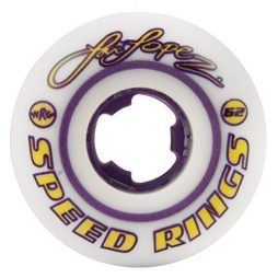 Ricta Speedrings Louie Lopez Skateboard Wheels, White/Violet, 52mm, 81b