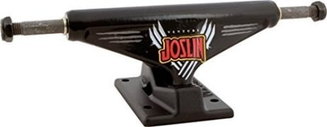 Venture Trucks Chris Joslin Pro Edition Low Gloss Black / Flat Black Skateboard Trucks – 5.0″ Hanger 7.6″ Axle (Set of 2)