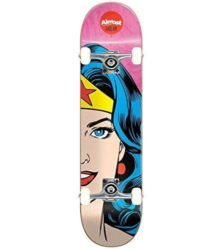 "ALMOST Skateboard SPLITFACE CHRIS HASLAM 8.375"" WONDER WOMAN Tensor Assembled"