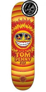 Flip Penny Sun Pro P2 Skateboard Deck - Orange - 31.5in x 8.0in