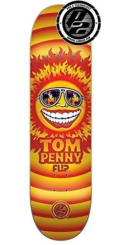 Flip Penny Sun Pro P2 Skateboard Deck – Orange – 31.5in x 8.0in
