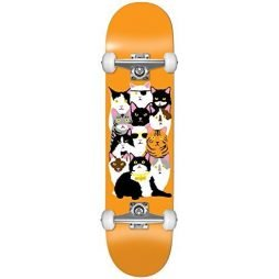 Enjoi HG Cat Collage Complete Skateboard, Orange, Size 7.625FU