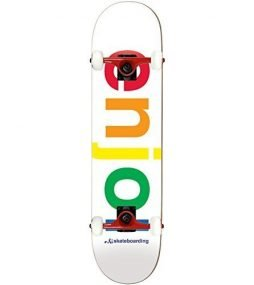 Enjoi Skateboard Complete Spectrum White 8″ Tensor Assmebled
