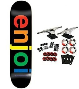 Enjoi COMPLETE SKATEBOARD Spectrum Logo Black 8.0