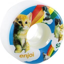 Enjoi Skateboards Kitten Dreams Skateboard Wheels – 52mm 100a (Set of 4)