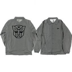 Primitive Skateboarding Autobots Grey Coaches Jacket – X-Large