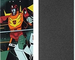 """Primitive Skateboarding Brian Peacock Transformers Hot Rod Skateboard Deck - 8"""" x 31.9"""" with Jessup Grip Tape - Bundle of 2 items"""