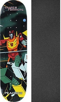 "Primitive Skateboarding Brian Peacock Transformers Hot Rod Skateboard Deck - 8"" x 31.9"" with Jessup Grip Tape - Bundle of 2 items"