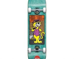 Almost 10523139 Top Cat Complete Skateboard, Teal, Size 8