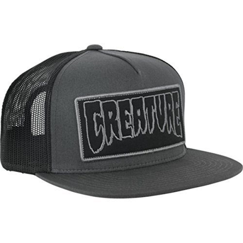 051fbef2e6d Creature Skateboards Reverse Patch Dark Grey   Black Mesh Trucker Hat -  Adjustable