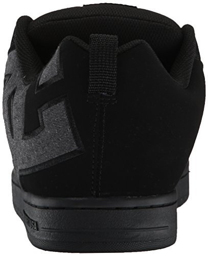 DC Men's Court Graffik SE Skate Shoe,Black Destroy Wash,12 D US