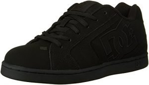 DC Men's Net Lace-Up Shoe, Black/Black/Black, 12 M US