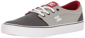 DC Women's Trase TX Skate Skateboarding Shoe, Grey/Grey/Red, 6 D US