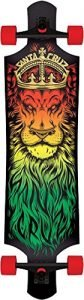 Santa Cruz Lion God Rasta Drop Thru Cruzer Freeride Longboard Deck Complete 40""