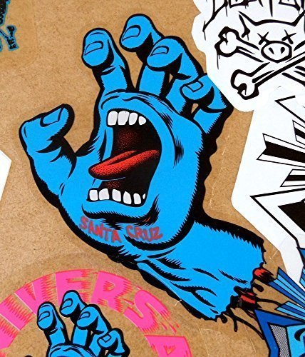 Santa Cruz Screaming Hand Skateboard Sticker in Blue – Jim Phillips Design 15cm NEW