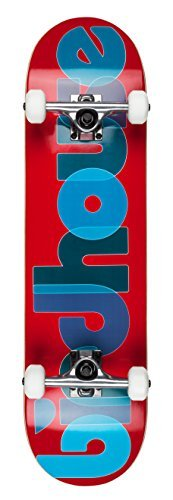 "Birdhouse Skateboards Beginner Grade Opacity Logo Complete Skateboard 8.0"", Red"