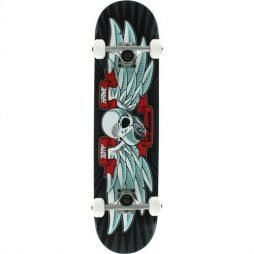 "Birdhouse Skateboards Beginner Grade Tony Hawk Flying Falcon Complete Skateboard 7.5"", Black"