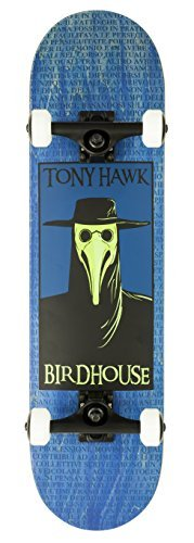 Birdhouse Skateboards Premium Quality Tony Hawk Plague Doctor Complete Skateboard, Blue, 8.0""