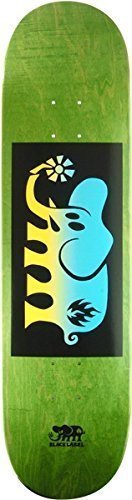 "Black Label Skateboards Elephant Fade Block Blue / Yellow Skateboard Deck - Assorted Stain Colors - 8.25"" x 32.12"""